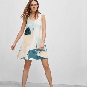 Wilfred 100% Silk Watercolor Milau Dress large
